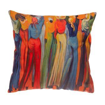 Orange Stilts Cushion Cover sqcomp
